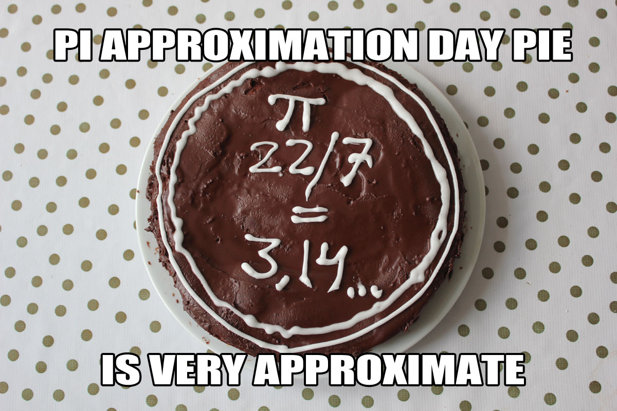 Pi Approximation Day Pie is very Approximate