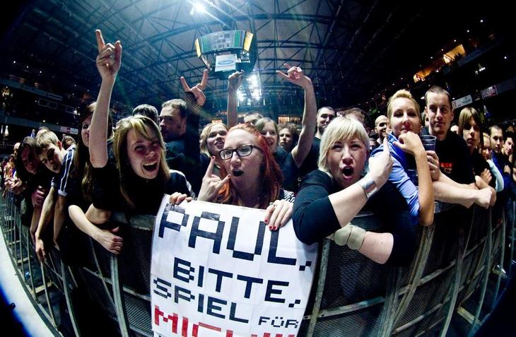 Me and my friends in Rammstein's concert in Tallinn