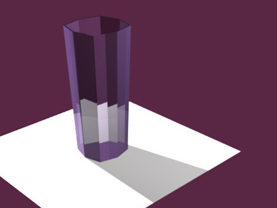 Glass made with Blender