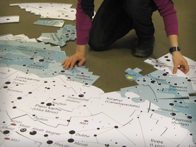 Constellation floor puzzle