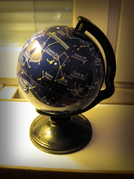 Star globe shaped piggy bank