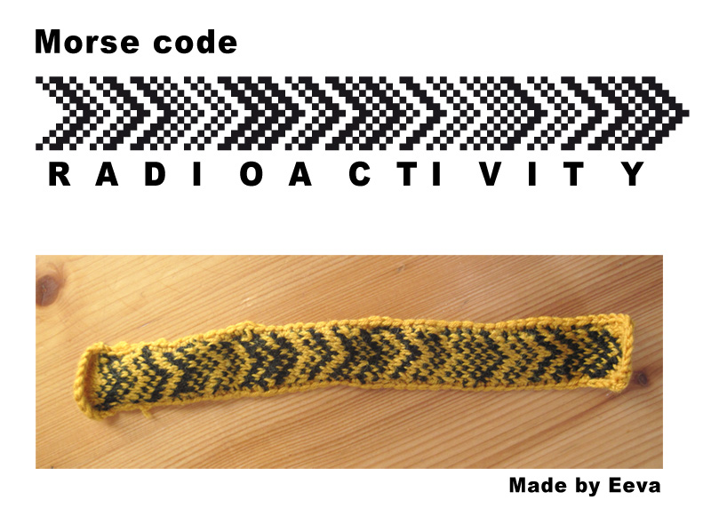 Radioactivity morsecode bookmark