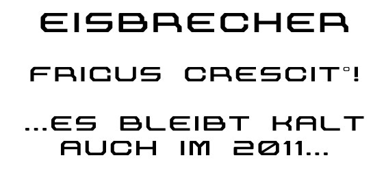Eisbrecher font sample